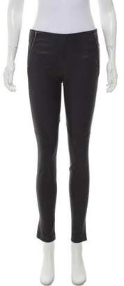 Theory Mid-Rise Leather Legging