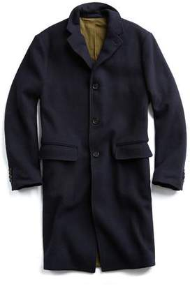 Todd Snyder Italian Knit Topcoat in Navy