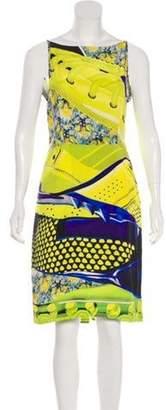 Mary Katrantzou Printed Silk Dress Yellow Printed Silk Dress