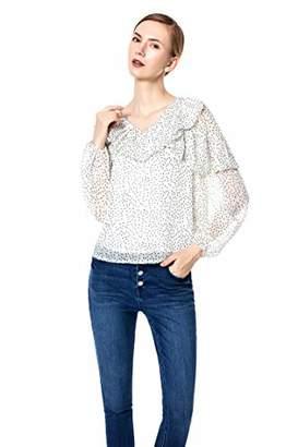 9df3da5b399 Blue Rainbow Womens V Neck Long Sleeve Tops Casual Blouse Shirt (L)