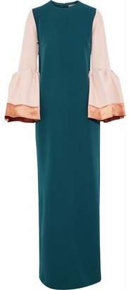 Roksanda Color-Block Satin-Trimmed Ponte Gown