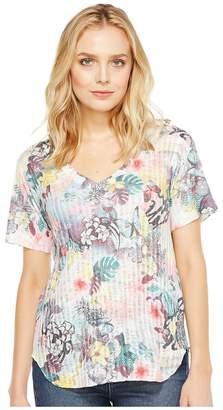 Nally & Millie Tropical Print Tee Women's T Shirt