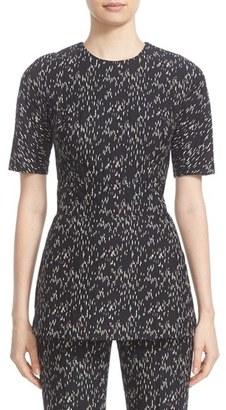 Women's Lela Rose 'Minnow' Cotton Blend Peplum Top $795 thestylecure.com