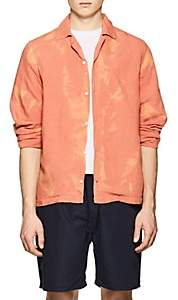 Saturdays NYC Men's Canty Linen-Blend Boxy Shirt - Orange