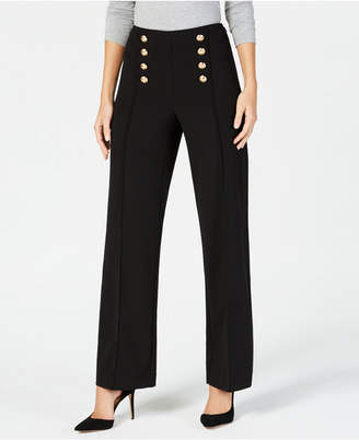 INC International Concepts I.n.c. Petite Wide-Leg Sailor Pants