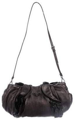 91fa5a909f7d ... usa pre owned at therealreal prada nappa ruffle shoulder bag 98805 77742