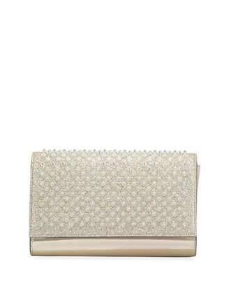 Christian Louboutin Paloma Glitter Mini Clutch Bag