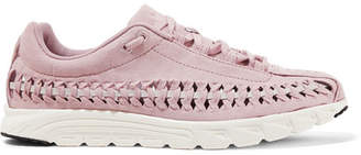 Nike Mayfly Woven Leather-trimmed Faux Suede Sneakers - Pastel pink
