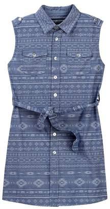 Toobydoo Amelia Printed Sleeveless Belted Shirtdress (Toddler, Little Girls, & Big Girls)