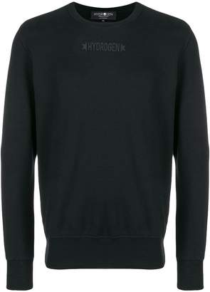 Hydrogen long sleeved logo T-shirt