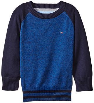 Tommy Hilfiger Kids Daryl Raglan Crew Neck Sweater (Big Kids)