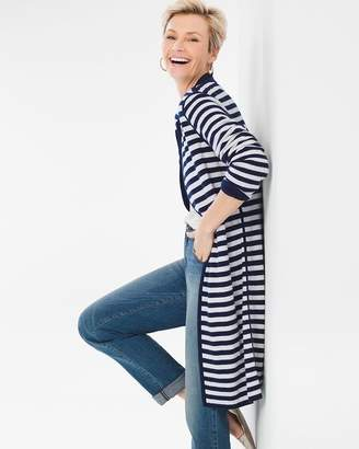 Chico's Chicos Solid-Striped Reversible Cardigan