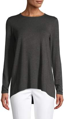 Saks Fifth Avenue Long-Sleeve Iconic Fit High-Low Tee