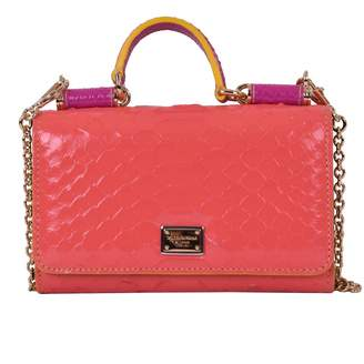 Dolce & Gabbana Sicily Pink Exotic leathers Handbags