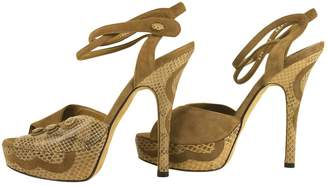 Bally Beige Suede Sandals