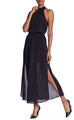 Rachel Roy Mock Neck Long Over Lean Maxi Dress