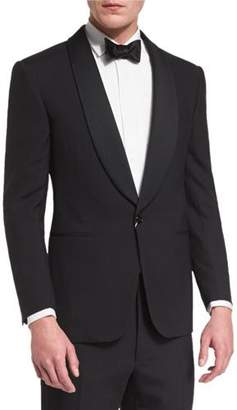 Ralph Lauren Anthony Shawl-Lapel Wool Tuxedo, Black $2,495 thestylecure.com