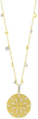 Freida Rothman Fleur Bloom Empire Circular Pendant Necklace