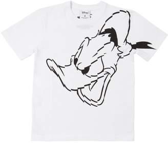 Marcelo Burlon County of Milan Donald Duck Print Cotton Jersey T-Shirt