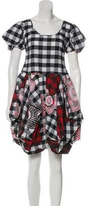 Zandra Rhodes Checkered Mini Dress