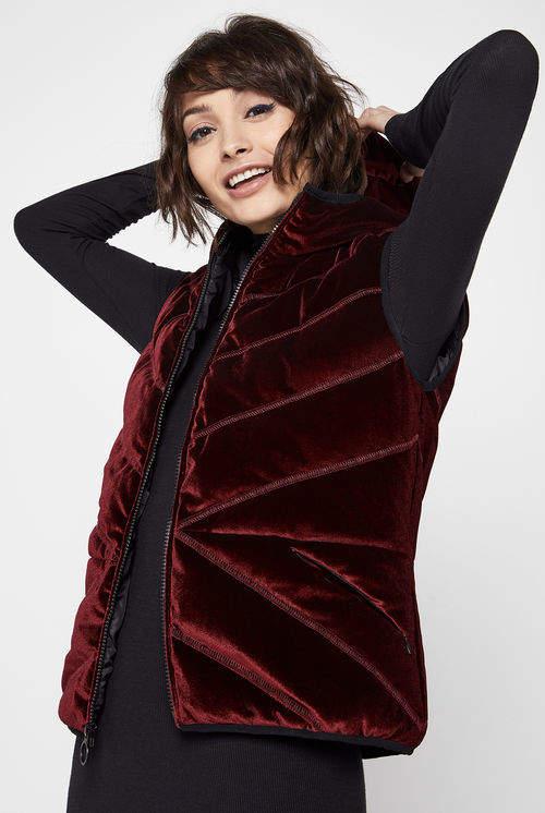 Velvet Hoodie Vest