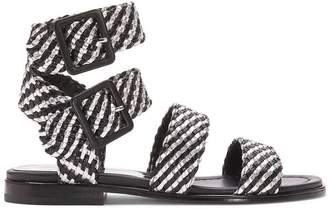 Donald J Pliner LUCIA, Woven Nappa and Metallic Leather Sandal