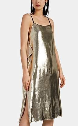 Helmut Lang Women's Metallic Velvet Slipdress - Gold