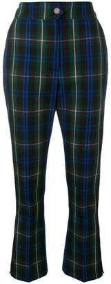 MSGM cropped tartan trousers