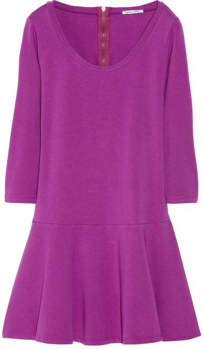 Stretch-jersey mini dress