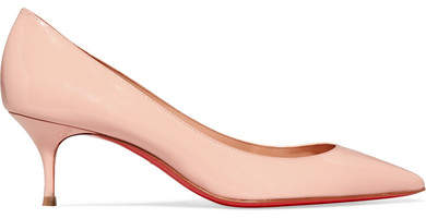 Christian Louboutin  Christian Louboutin - Pigalle Follies 55 Patent-leather Pumps - Pastel pink