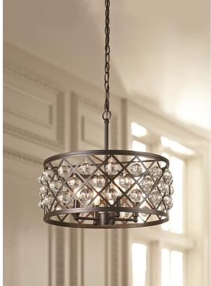 home decorators collection lattice 4 light antique bronze pendant - Home Decorators Collection Lighting