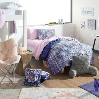 Simple By Design Indigo Boho Reversible Twin / Twin XL Bed Set