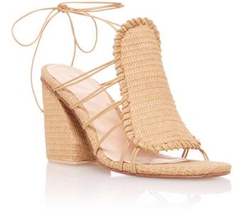 Marcela B. Asymmetric Heeled Sandal