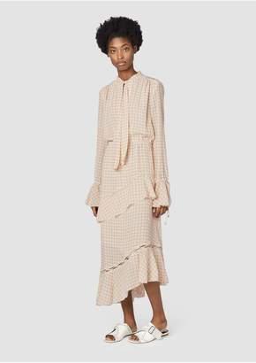 Derek Lam 10 Crosby Long Sleeve Tiered Maxi Dress