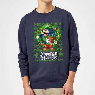 Nintendo Super Mario Happy Holidays Luigi Christmas Sweatshirt