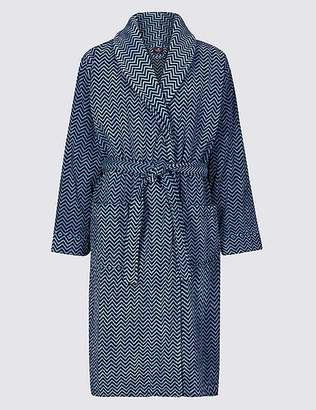 Marks and Spencer Pure Cotton Printed Dressing Gown