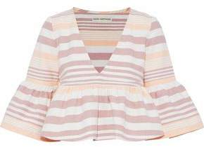 Mara Hoffman Cropped Striped Cotton Top