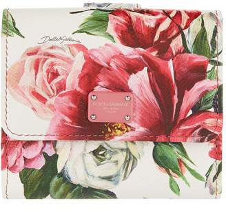 Dolce & Gabbana Floral French Flap Wallet