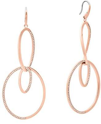 Michael Kors Womens Brilliance -Tone Drop Hoop Earrings