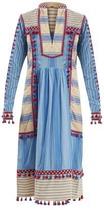 DAY Birger et Mikkelsen DODO BAR OR Stephanie embroidered striped cotton dress