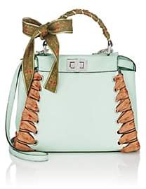 Fendi Women's Peekaboo Mini Leather Satchel - Fairy Green