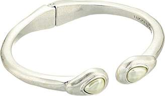 Lucky Brand Womens Pearl Hinge Cuff Bracelet