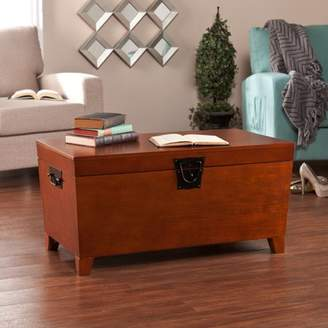 Southern Enterprises Pyramid Trunk Coffee Table, Transitional style, Multiple Finishes