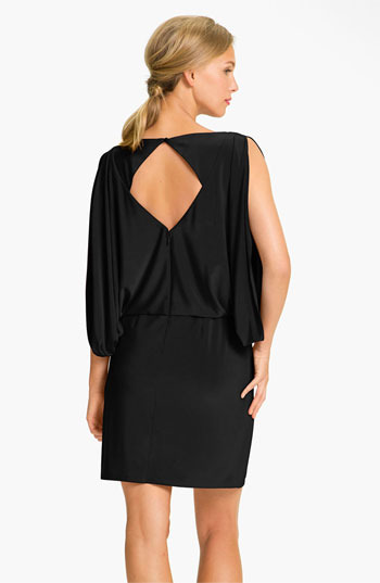 Jessica Simpson Draped Sleeve Jersey Blouson Dress