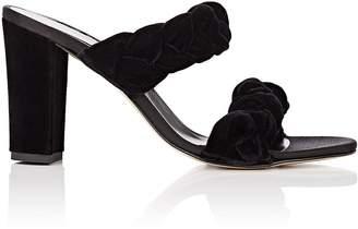 Barneys New York Women's Braided Velvet Double-Band Sandals