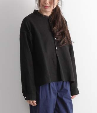 スタンドカラーシャツ(C・ブラック)