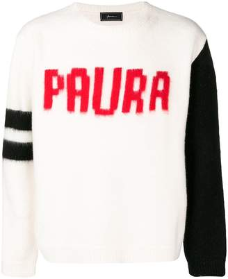 Paura front printed sweater