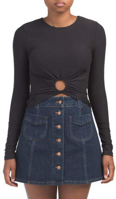 Long Sleeve Front O Ring Top