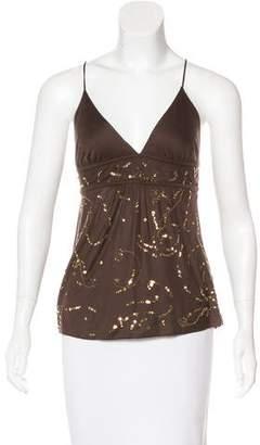 Diane von Furstenberg Embellished Sleeveless Top