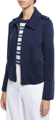 Piazza Sempione Cropped Jersey Epaulet Jacket